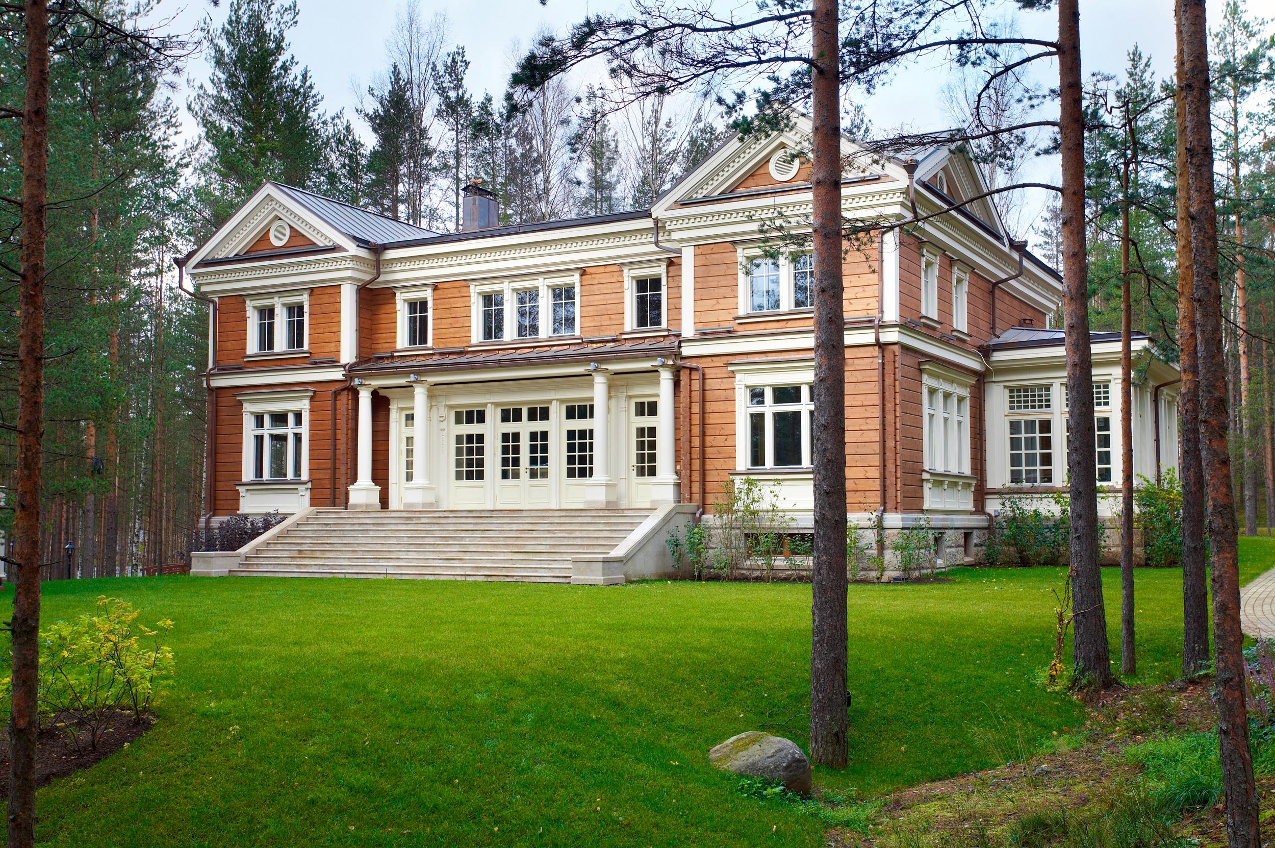 Проект дома в стиле русская усадьба